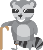 Raccoon with Cane