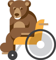 Bear in Wheelchair